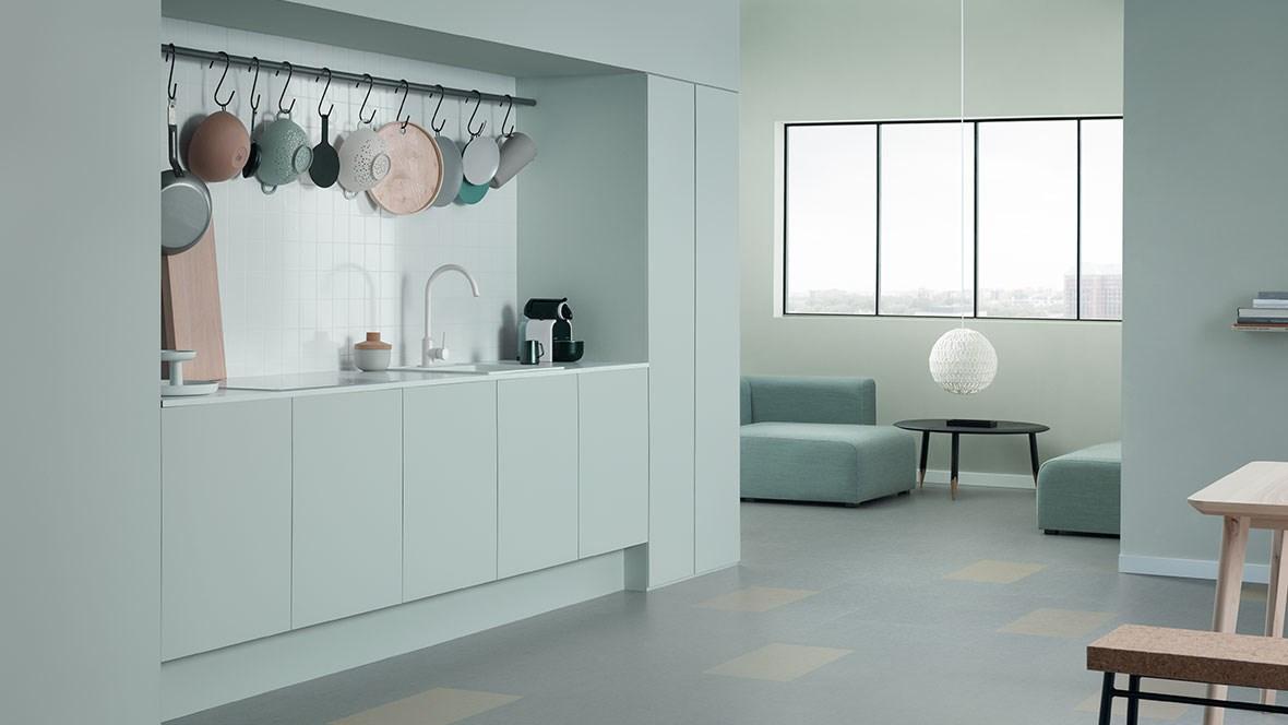 Onze natural design collectie biedt marmoleum zowel in tegels als